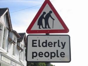 elderly road sign