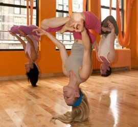 upside down yoga